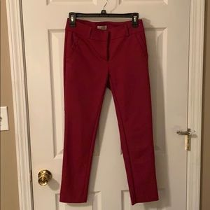 Size 0P Raspberry LOFT Skinny Ankle Pants